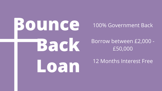 Bounce Back Loan infographic for website J&J Commercial Finance